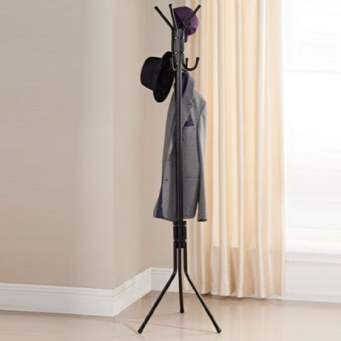 Black Metal Coat Stand Rack